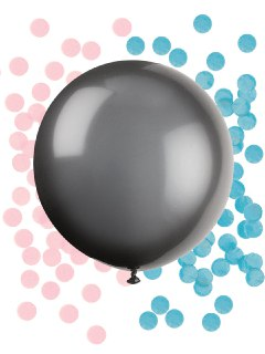 baby shower palloncino nero