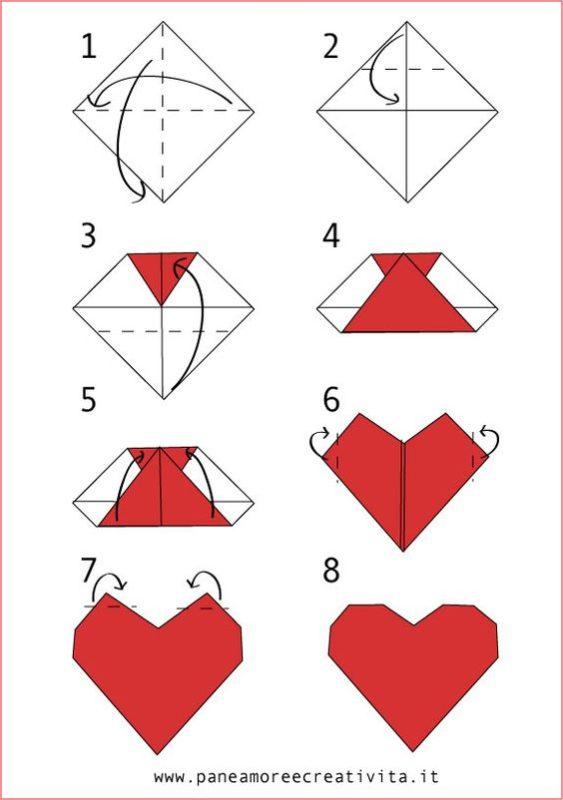 idee per la festa della mamma origami cuore